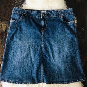 OLD NAVY Stretch Denim Jean Skirt Plus Size 20 EUC
